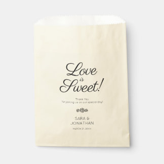 Love is Sweet | Calligraphy Wedding Favour Bags