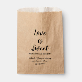 Love Is Sweet Candy Wedding Thank You Favour Bags