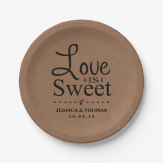 Love Is Sweet! Custom Wedding Paper Plates
