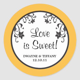 Love is Sweet - Flowers Classic Round Sticker