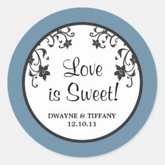 Love is Sweet - Flowers Round Sticker