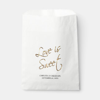 Love is Sweet - Gold Metal Favour Bags