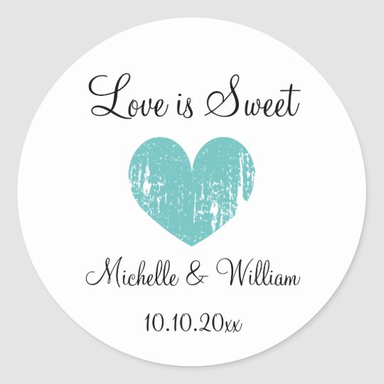 Love is sweet heart custom DIY wedding party