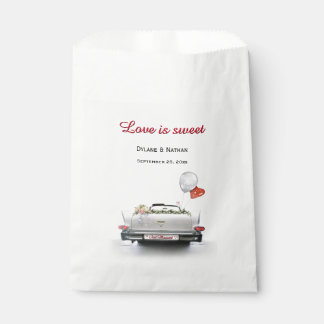 Love is Sweet - Just Married Car Favour Bags