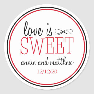 Love Is Sweet Labels (Black / Red)