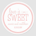 Love Is Sweet Labels (Blush / Terra Cota) Round Stickers