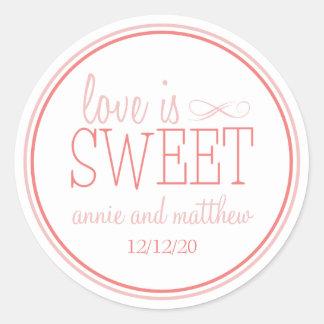 Love Is Sweet Labels Blush Terra Cota Stickers