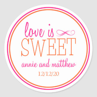 Love Is Sweet Labels (Hot Pink / Orange)