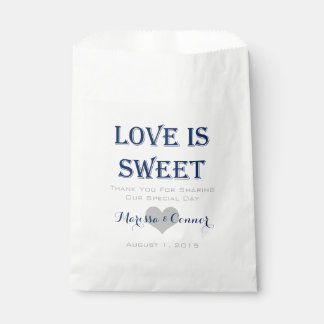 Love Is Sweet Navy and Gray Wedding Bags Favour Bags