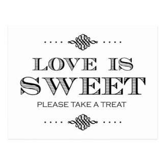 Love is Sweet Please Take a Treat Postcard