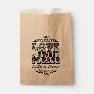 Love Is Sweet, Please Take A Treat! Wedding Favors Favour Bags