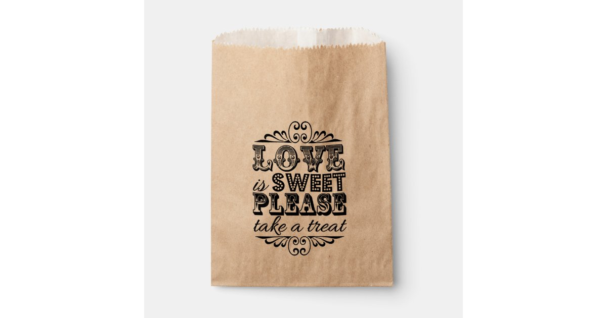Asian Wedding Gift Bags Uk : Love Is Sweet, Please Take A Treat! Wedding Favour Bags Zazzle