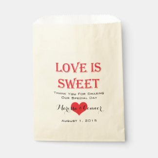 Love Is Sweet Red and Black Wedding Bags Favour Bags