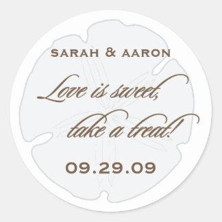 Love is Sweet Sand dollar sticker