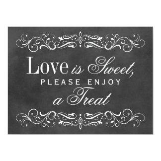Love is Sweet Sign   Chalkboard Flourish Card