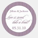 Love is Sweet Sticker in Purple