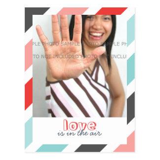 Love is... Sweet Stripes Border Photo Postcards