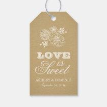 Love is Sweet Tags | Rustic Kraft Design Pack Of Gift Tags