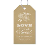 Love is Sweet Tags | Rustic Kraft Design Pack Of Gift Tags