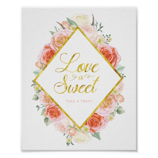 Love is Sweet take a Treat (8x10) Poster
