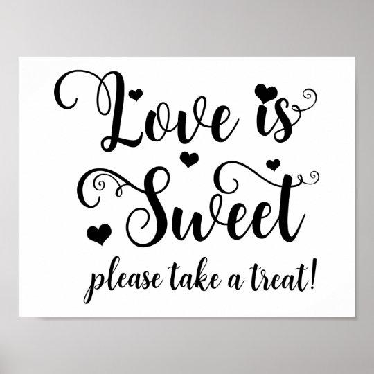 Love is Sweet Take a Treat Wedding Table