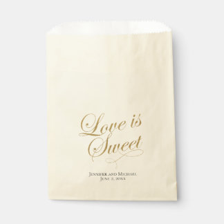 Love Is Sweet Treat Bag with Faux Gold Foil