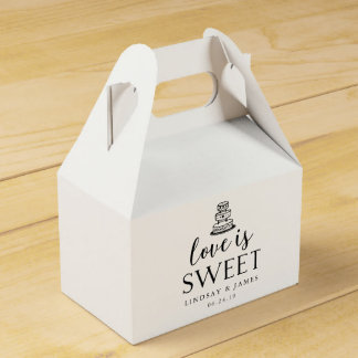 Love is Sweet | Wedding Cake Favour Box
