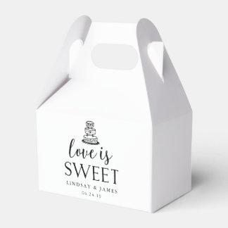 Love is Sweet | Wedding Cake Favour Box