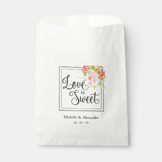 Love is Sweet - Wedding Favor Bag, Shower Treats Favour Bags