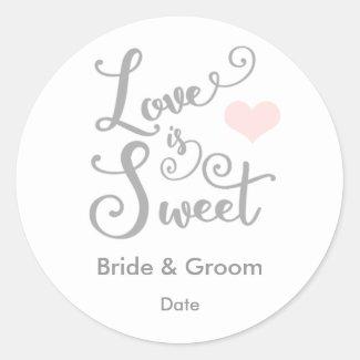 Love is Sweet Wedding Favour Sticker