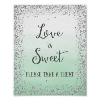 Love is Sweet Wedding Poster Print