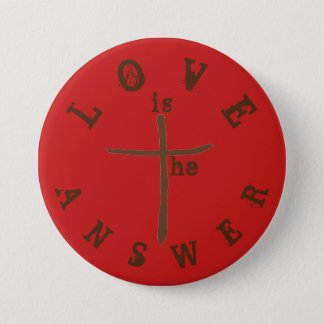 Love is the Answer 7.5 Cm Round Badge