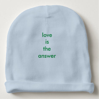 Love Is The Answer Baby Cotton Beanie Baby Beanie