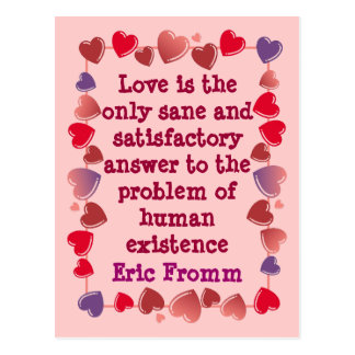 Love is the answer postcard