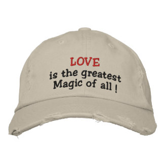 Love is the greatest Magic of all!-embroidered hat Embroidered Hats