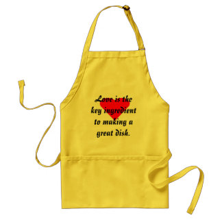 Love Is The Key Ingredient To Making A Great Dish! Standard Apron