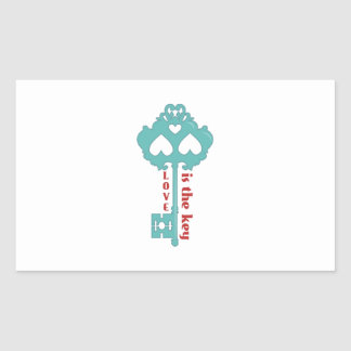 Love is the Key Rectangular Stickers