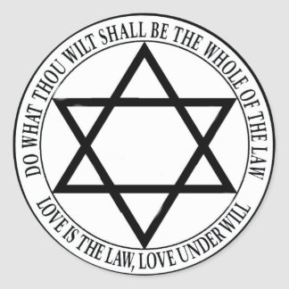 love is the law round sticker