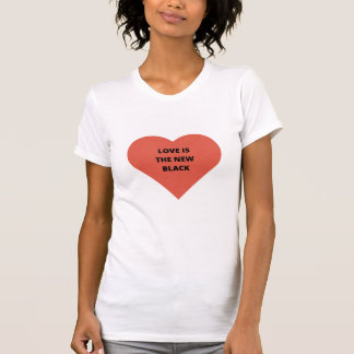 Love is the new black women's shortsleeve shirt