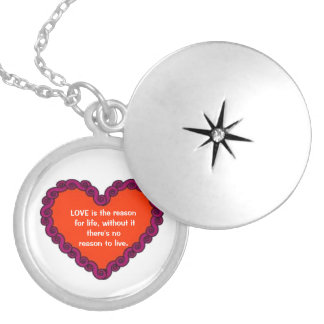 Love Is The Reason Round Locket Necklace