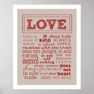 Love is..... Typography Art Print