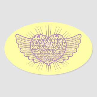 Love is Weird III Oval Sticker
