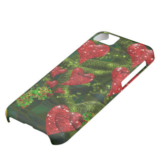 Love is Weird - Red Hearts on Strange Abstract iPhone 5C Case