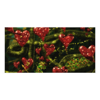 Love is Weird - Red Hearts on Strange Abstract Photo Card Template