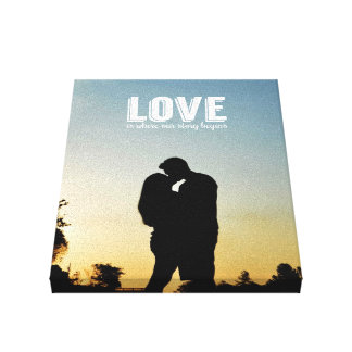 Love is Where our Story Begins Couple Photo Canvas Canvas Print