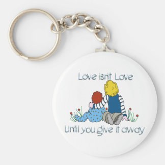 Love isn't Love Basic Round Button Key Ring