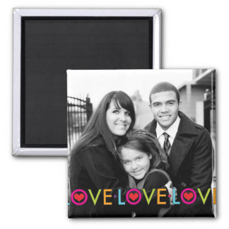 Love It Black and White Photo Insert Refrigerator Magnet