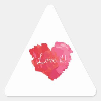 Love It! Triangle Sticker