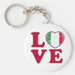 Love Italian Flag Heart Key Chain
