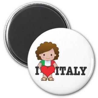 Love Italy 6 Cm Round Magnet